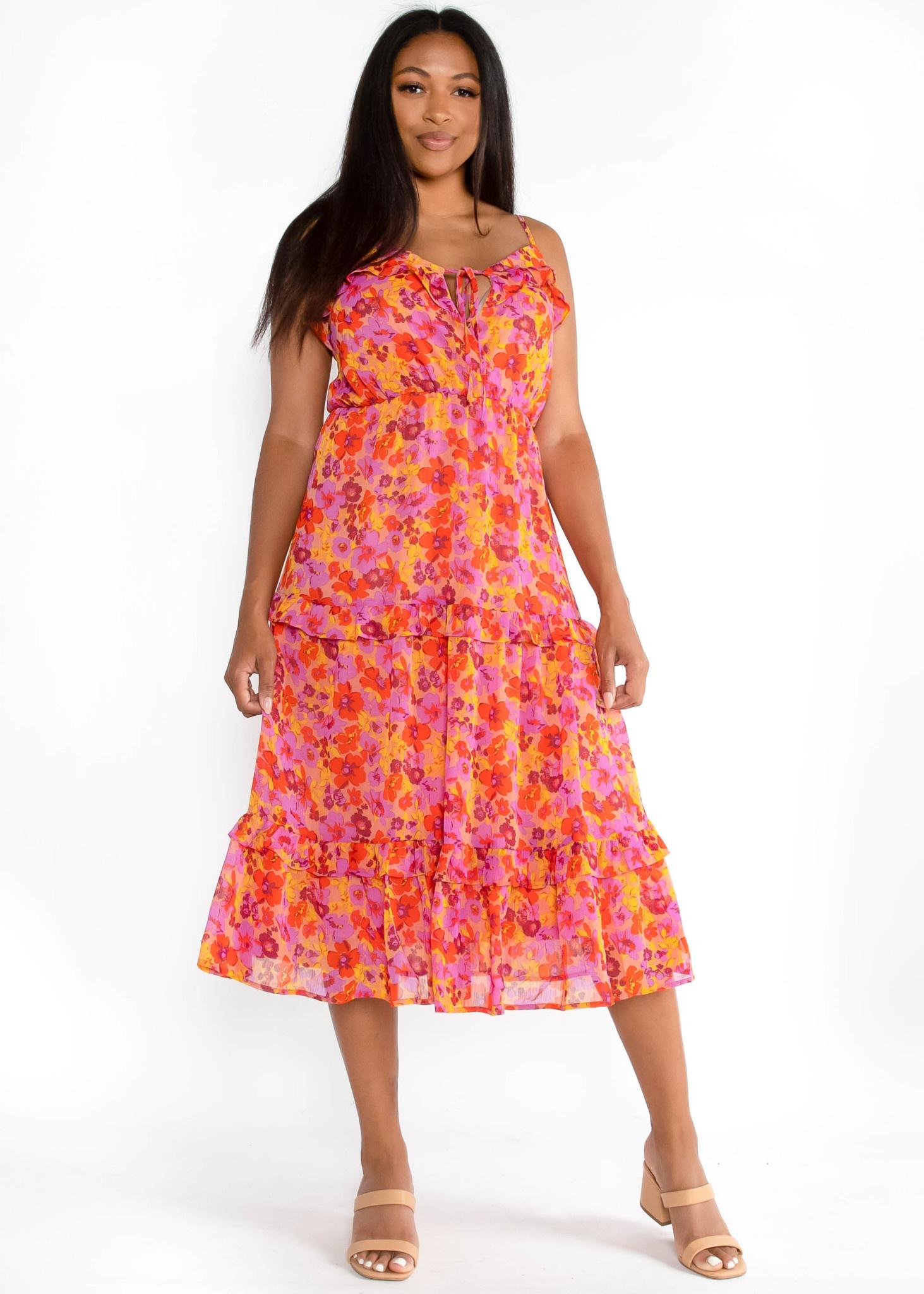 SUNSET IN SEVILLA FLORAL DRESS