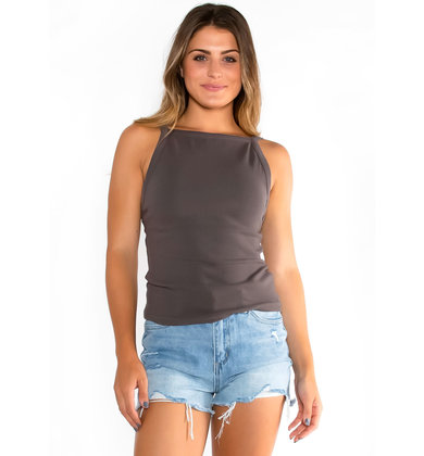 AFTER ALL TANK TOP - CHARCOAL