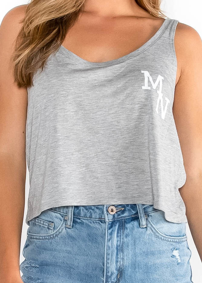 LOCAL LOVE MN CROPPED TANK TOP