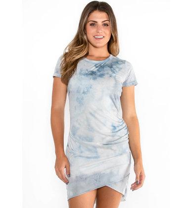 TWIST + TIE DRESS - BLUE