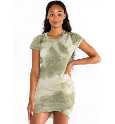 TWIST + TIE DRESS - OLIVE
