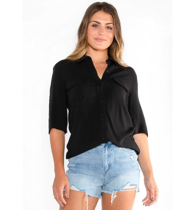 THINKING AHEAD BLACK BLOUSE