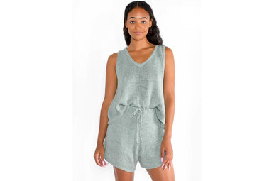 OCEAN ESCAPE KNIT TANK TOP - SAGE