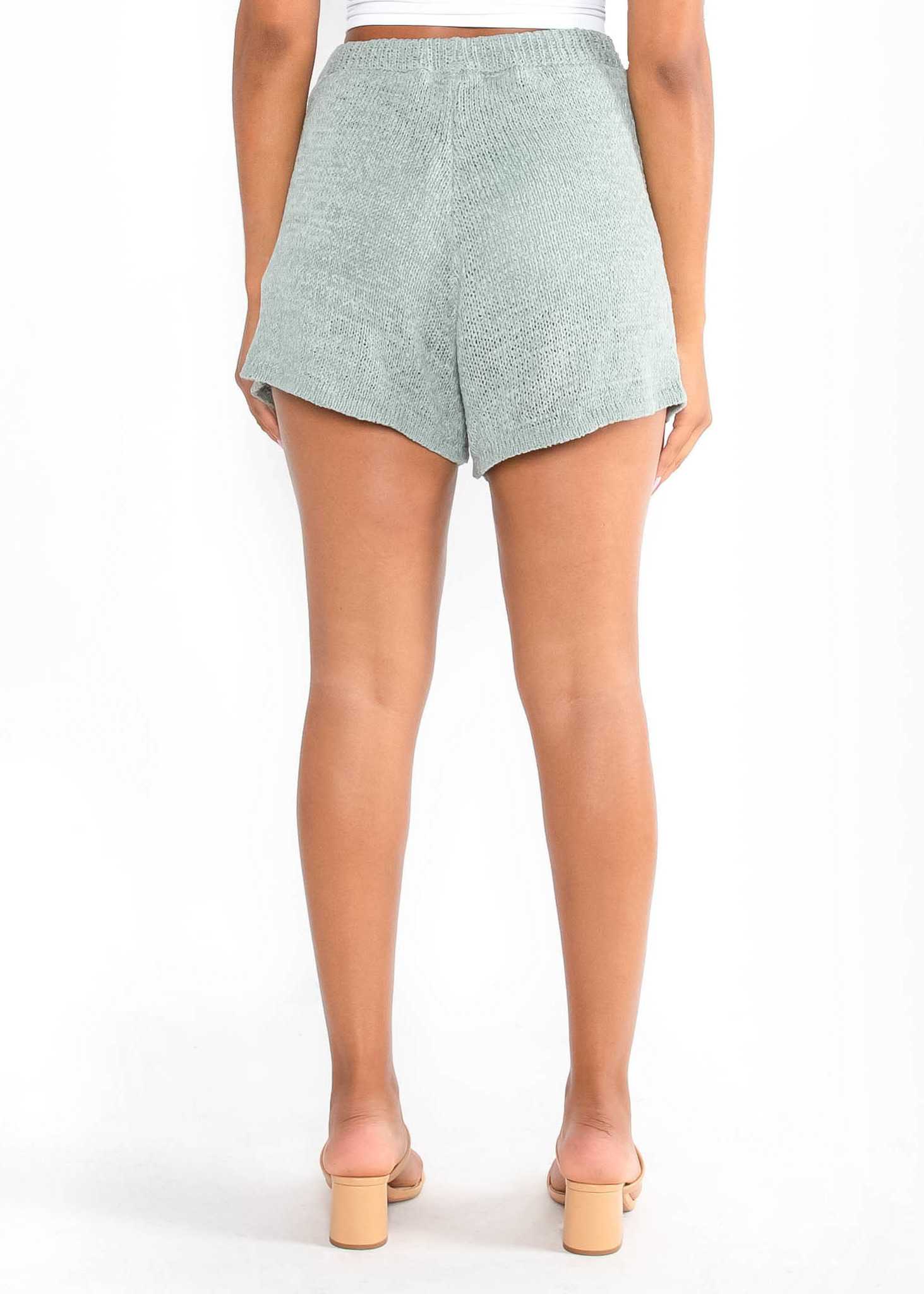 OCEAN ESCAPE KNIT SHORTS -SAGE