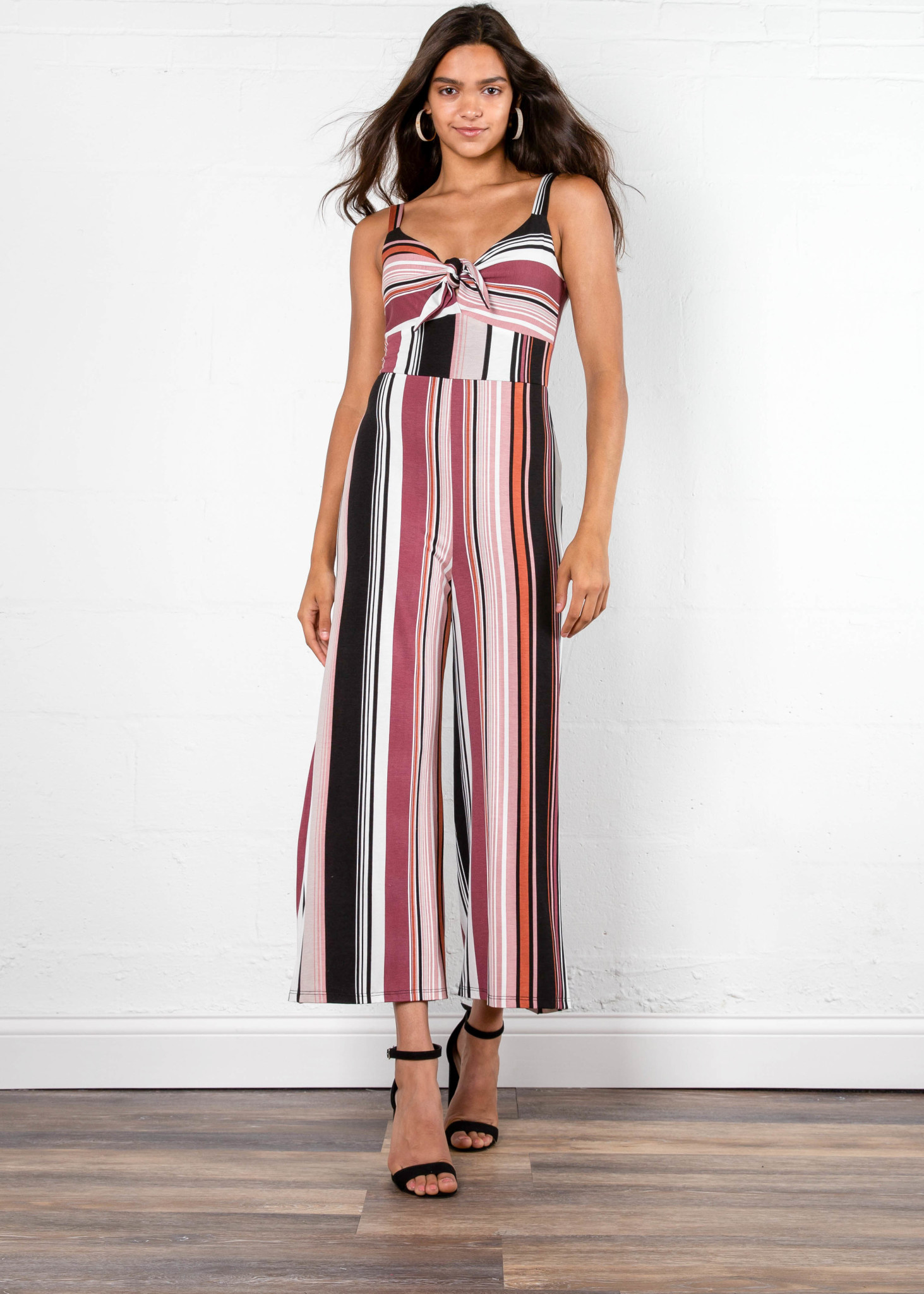 MILESTONES STRIPED JUMPSUIT