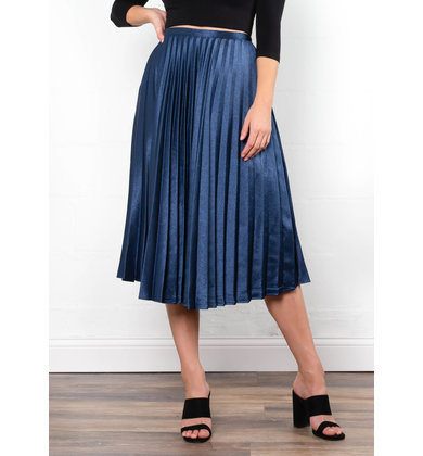 JEWEL PLEATED MIDI SKIRT