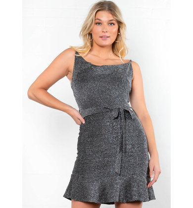 BLOWN AWAY COWL NECK DRESS