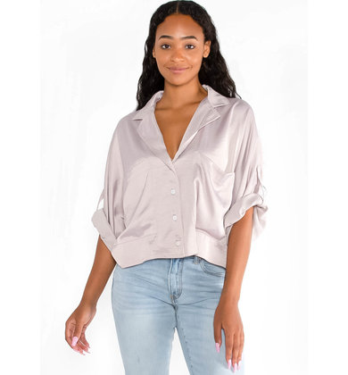 AM TO PM MAUVE BLOUSE