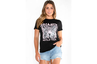 DREAMER GRAPHIC TEE - BLACK