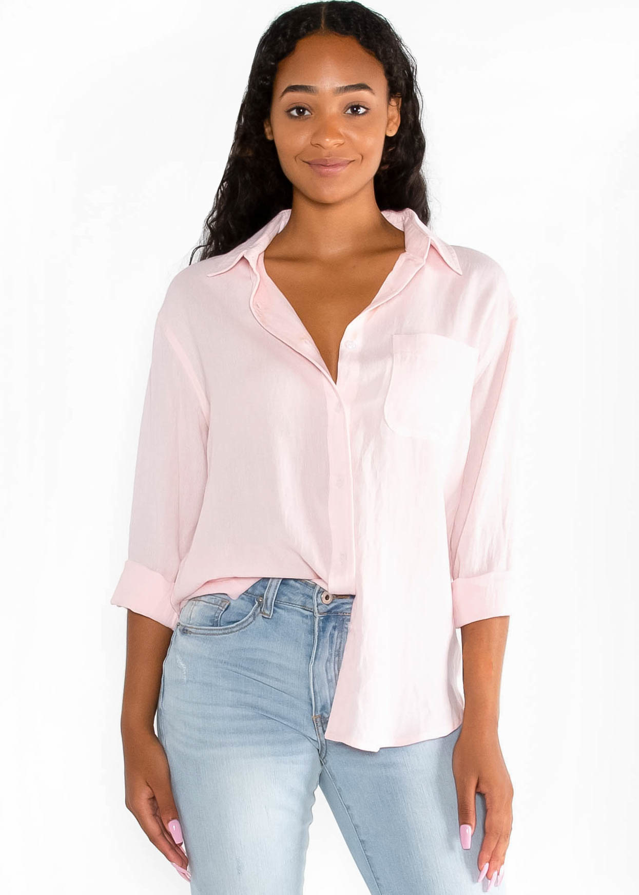 CROSSROADS BUTTON UP BLOUSE