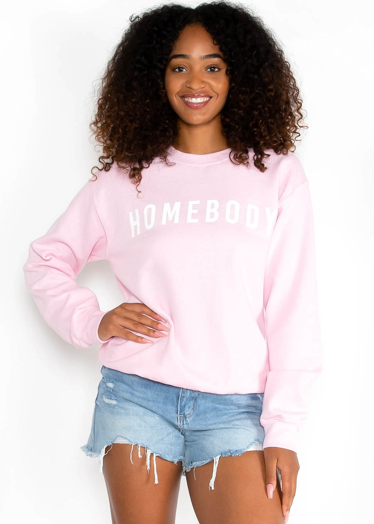 HOMEBODY SWEATSHIRT - PINK