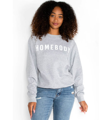 HOMEBODY SWEATSHIRT - GREY