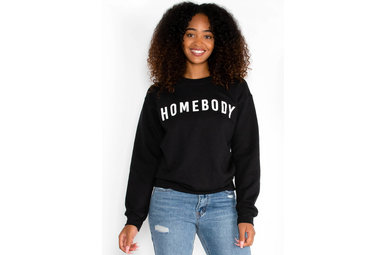 HOMEBODY SWEATSHIRT - BLACK