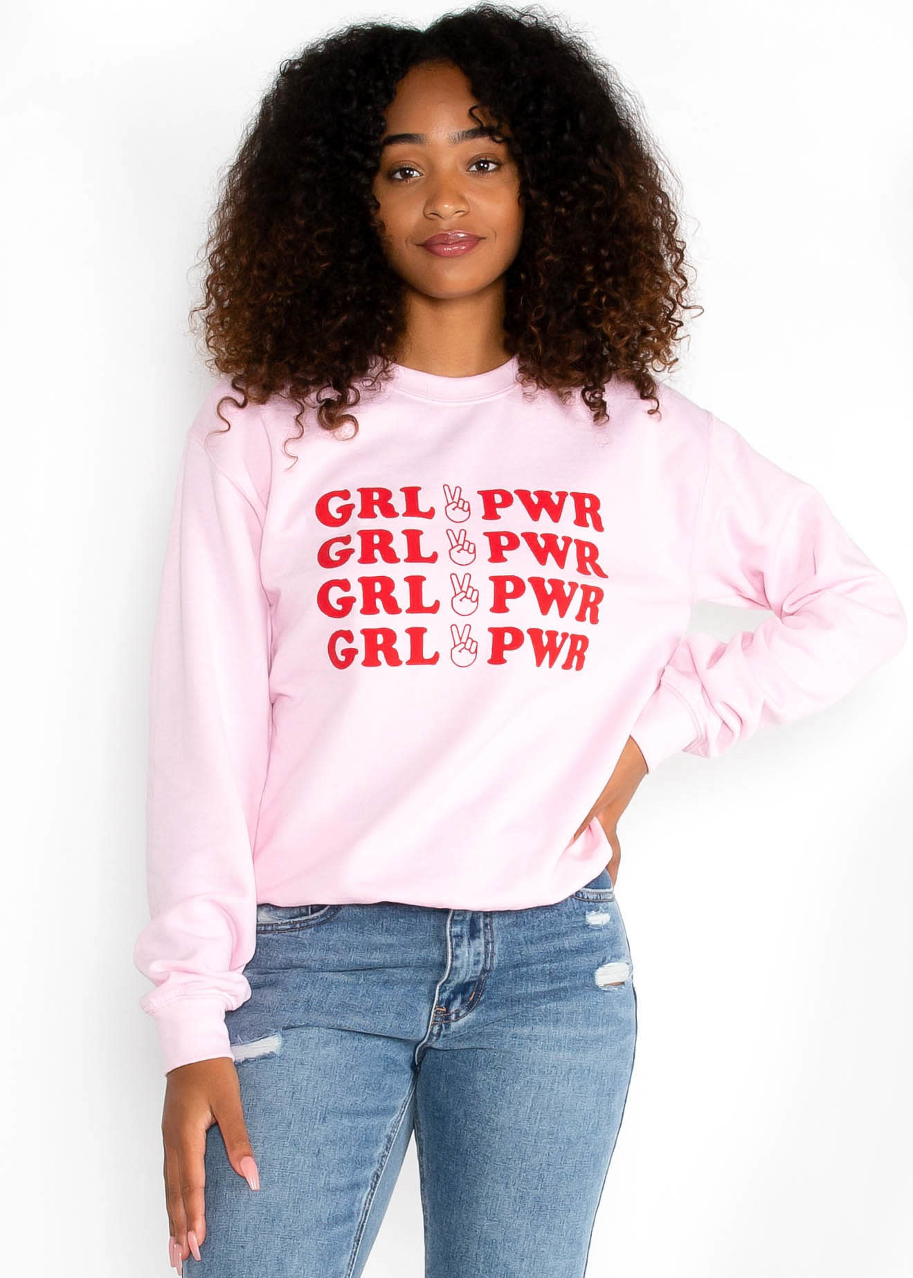 GIRL POWER GRAPHIC SWEATSHIRT