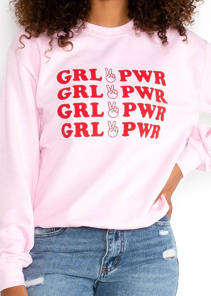 GIRL POWER GRAPHIC SWEATSHIRT