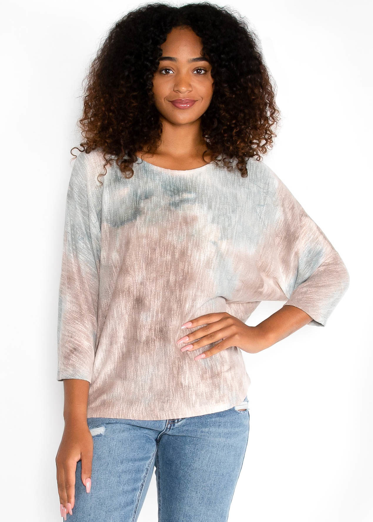 SCENIC ROUTE TIE DYE SWEATER