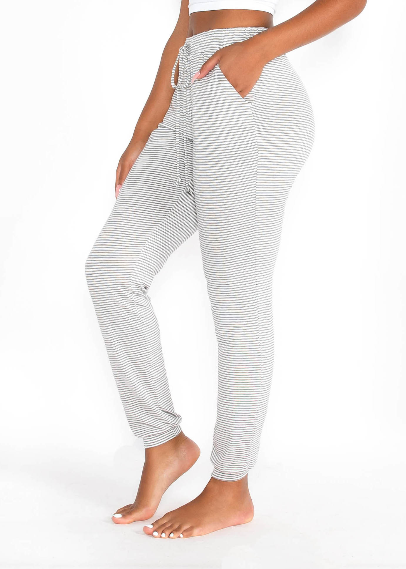 COUCH HOPPING STRIPED JOGGERS
