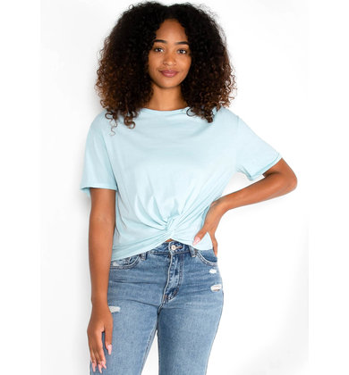 ROAD TRIP FRONT TWIST TOP - BLUE
