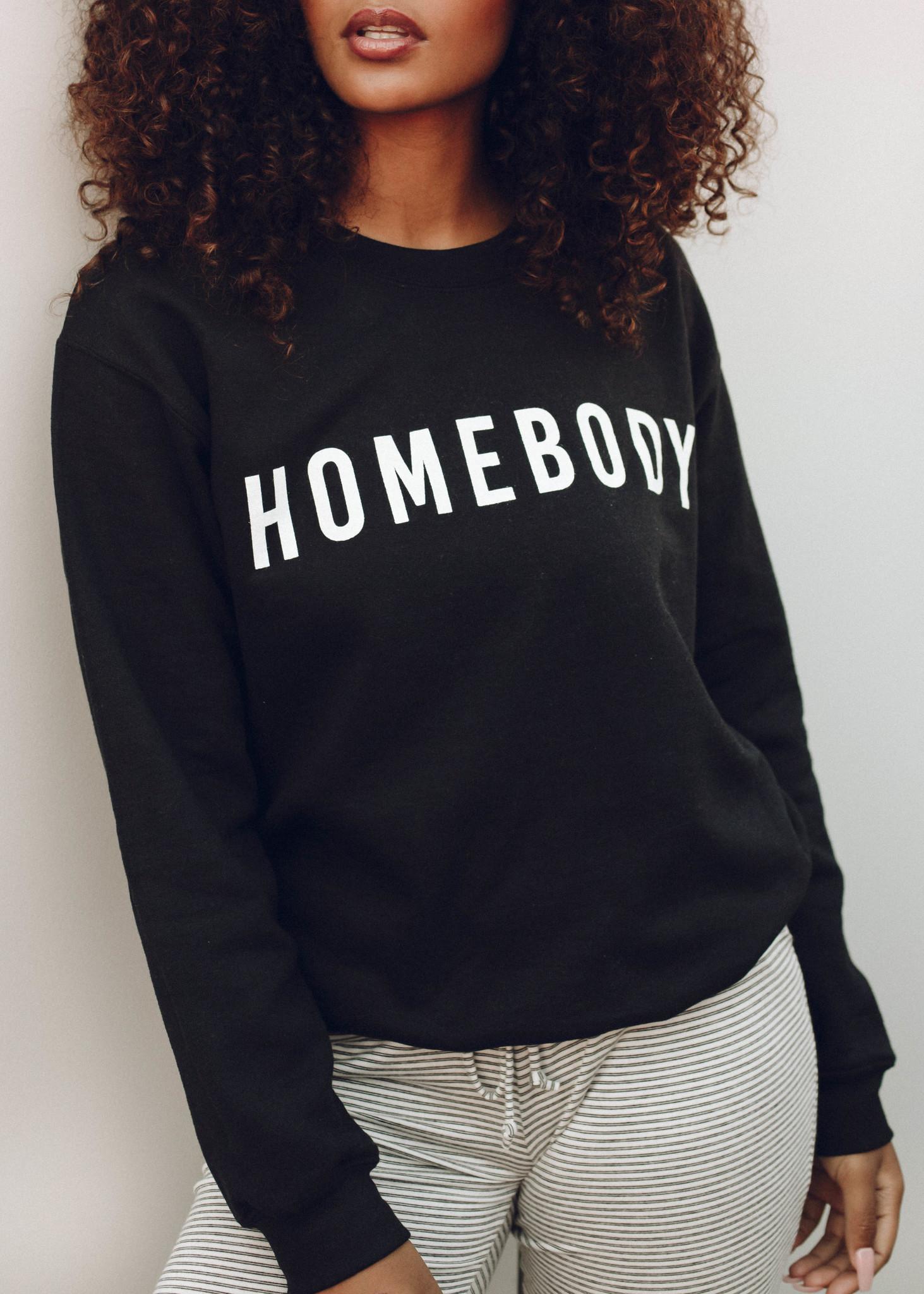 HOMEBODY SWEATSHIRT - BLACK