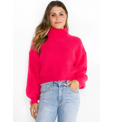 KEEP LIVIN' MOCK NECK SWEATER