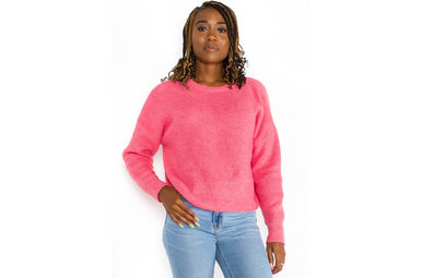 BREAKING PLANS PINK SWEATER