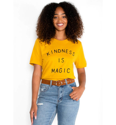 KINDNESS IS MAGIC TEE - YELLOW
