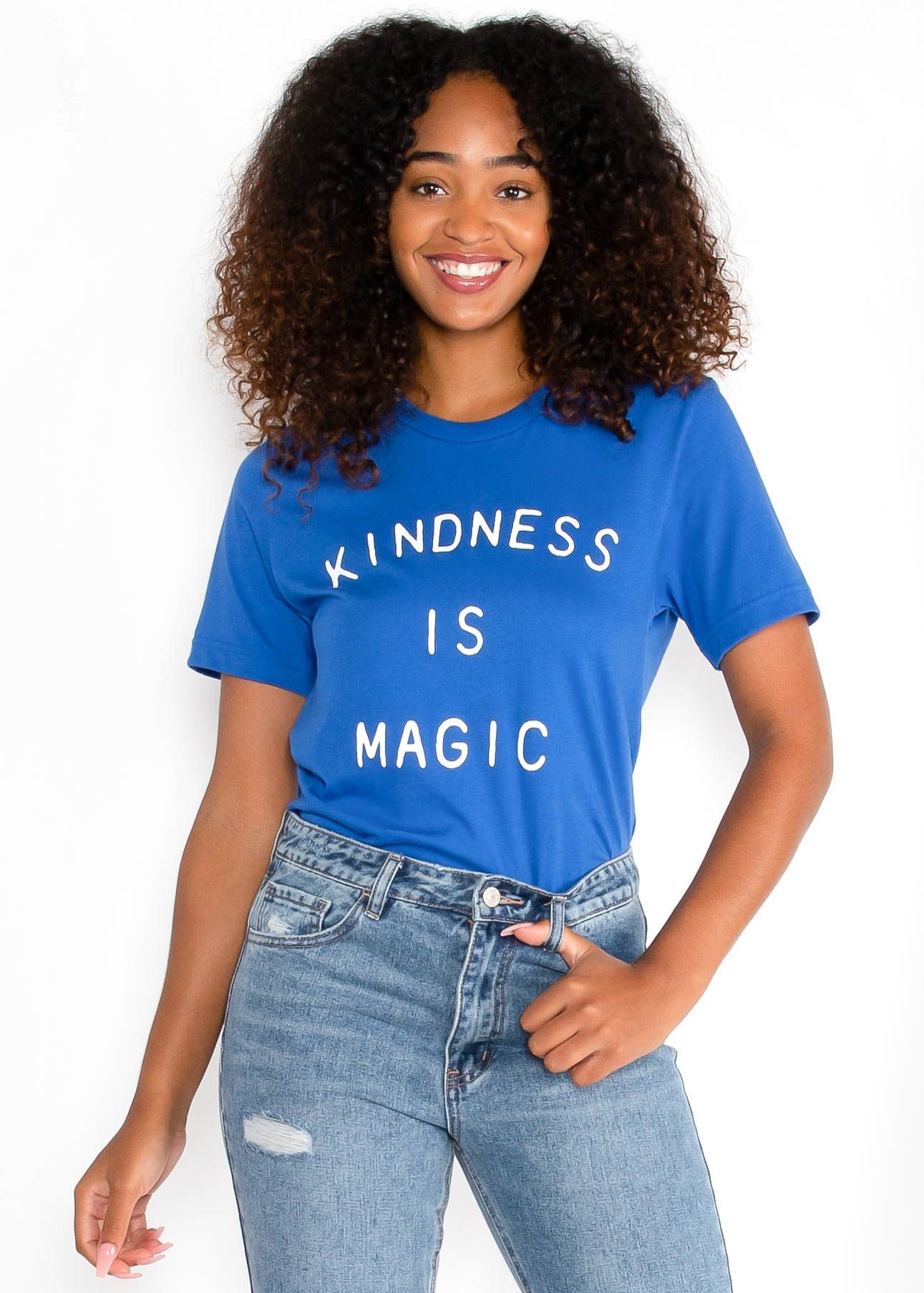 KINDNESS IS MAGIC TEE - BLUE