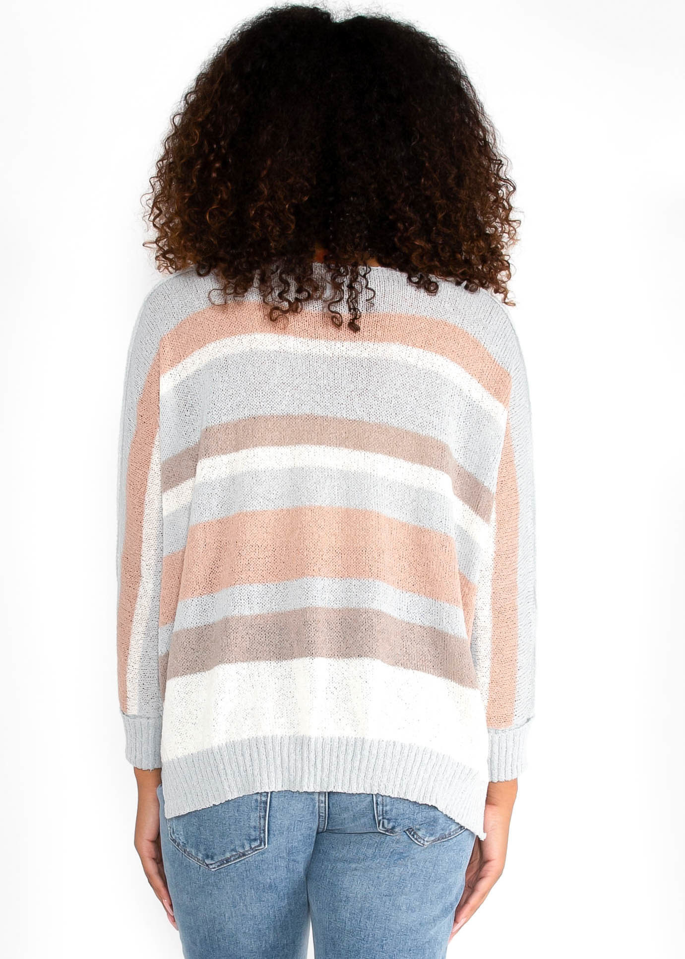 HOLD ME CLOSE STRIPED SWEATER