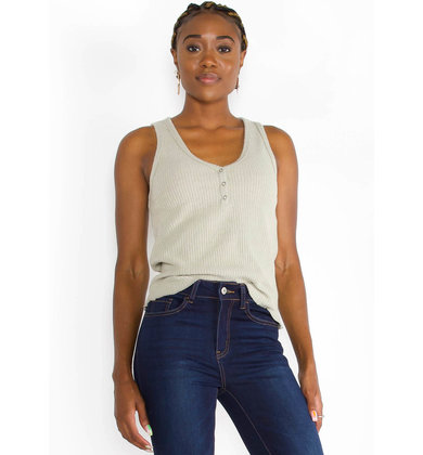 SETTING SUN RIBBED TANK TOP