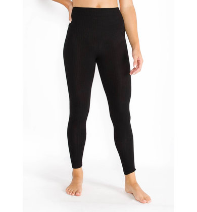 ENCORE RIBBED LEGGINGS - BLACK
