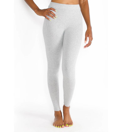 ENCORE RIBBED LEGGINGS - GREY