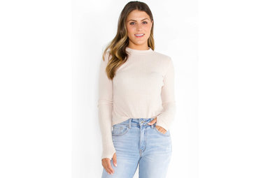 ALL IS WELL WAFFLE KNIT TOP