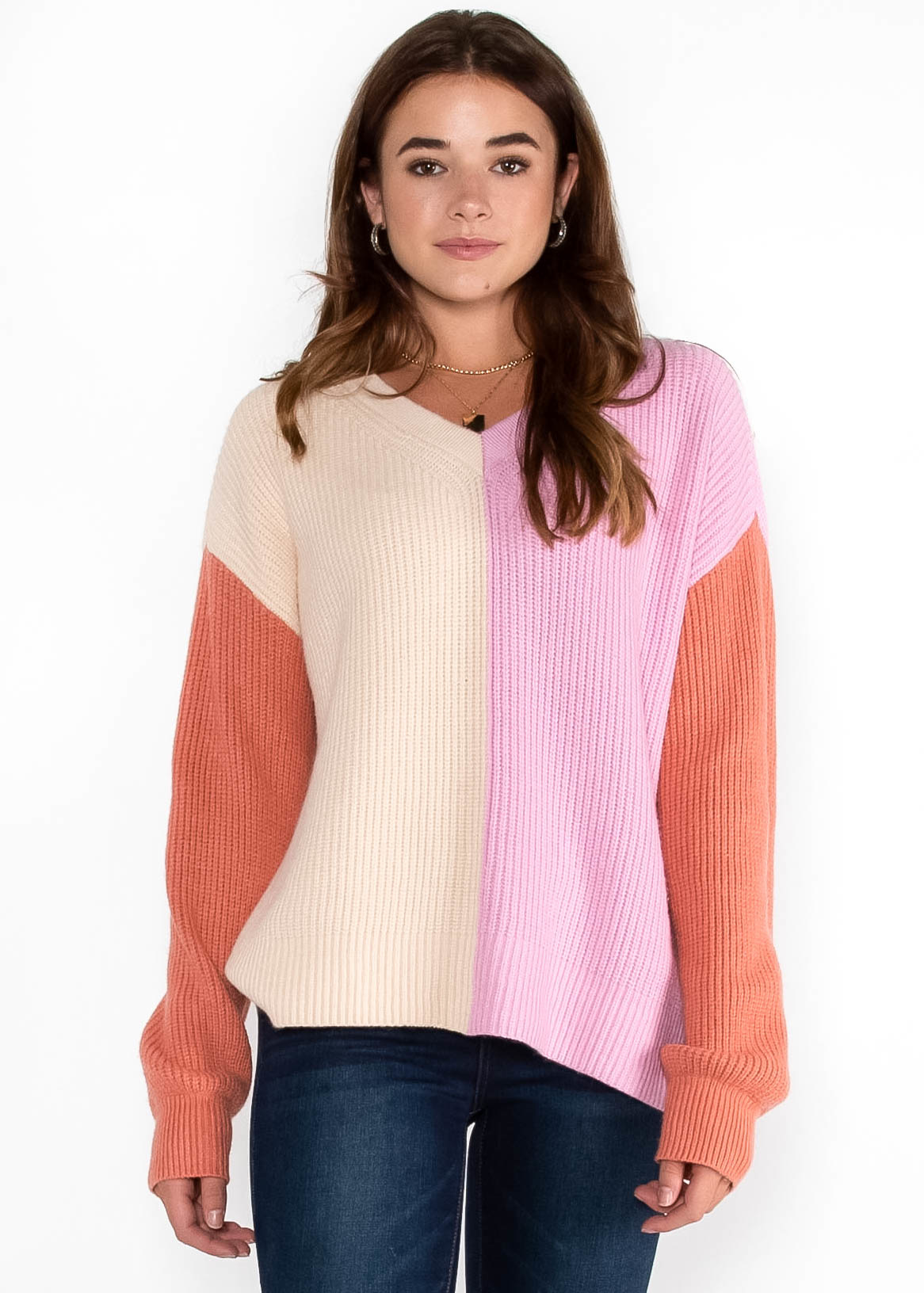 COOL CUES COLOR BLOCK SWEATER
