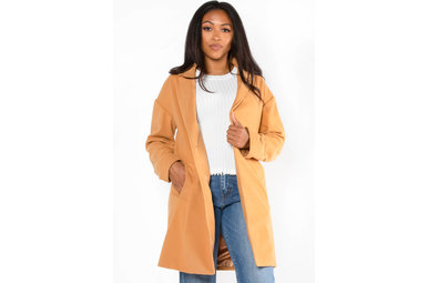 SWEETER STILL COAT - CAMEL