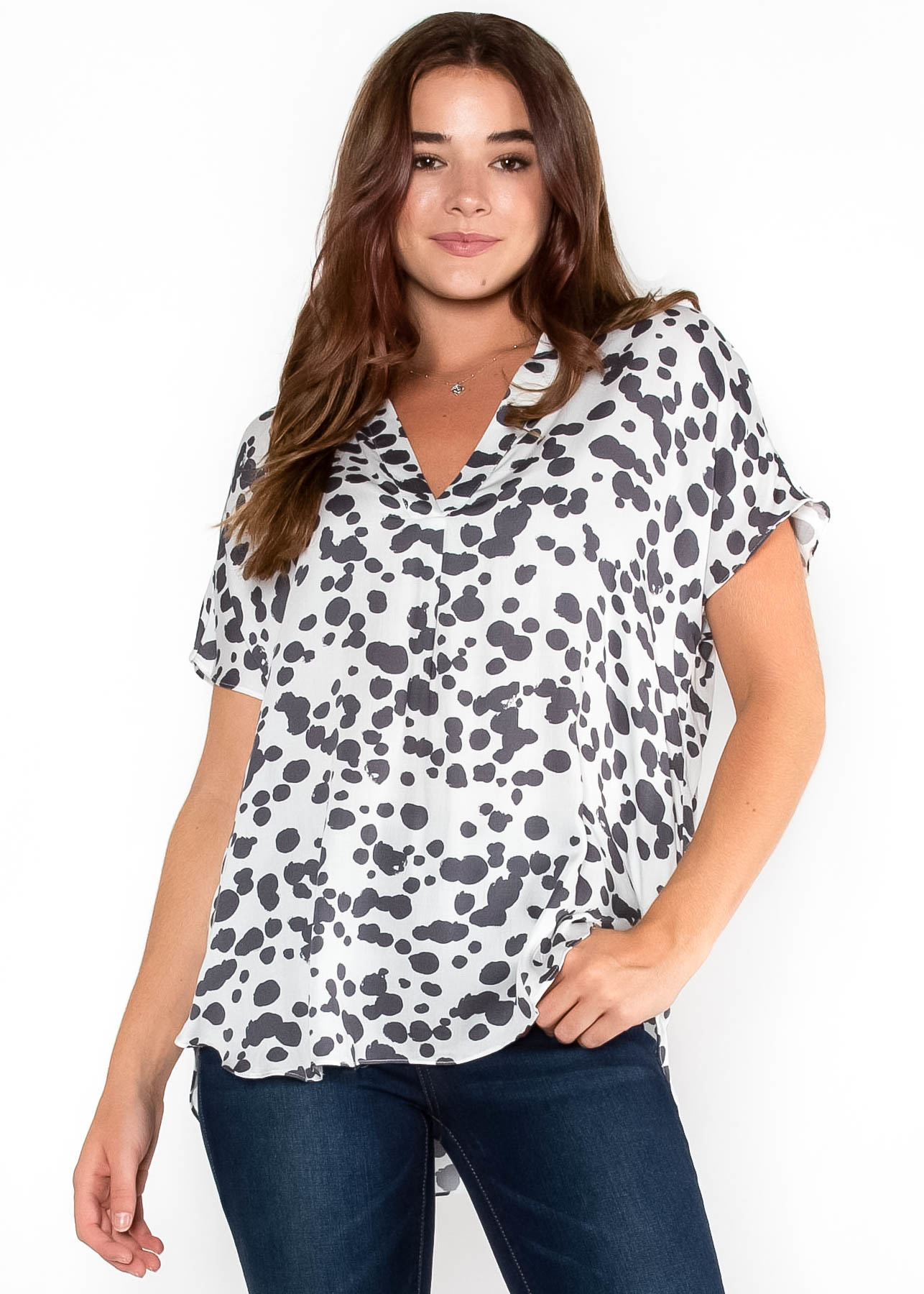 LIVE A LITTLE PRINTED BLOUSE
