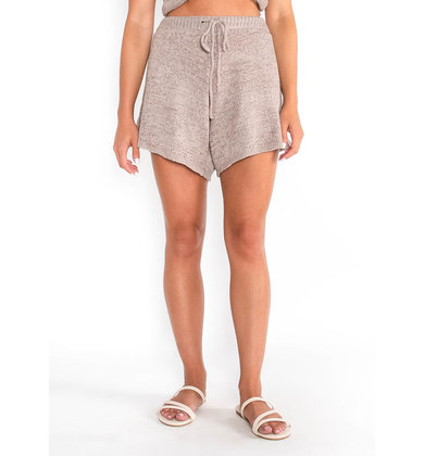 OCEAN ESCAPE KNIT SHORTS - MAUVE
