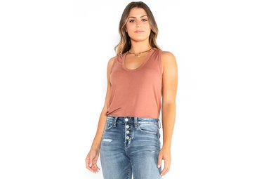 JUST THE START TANK TOP - COPPER
