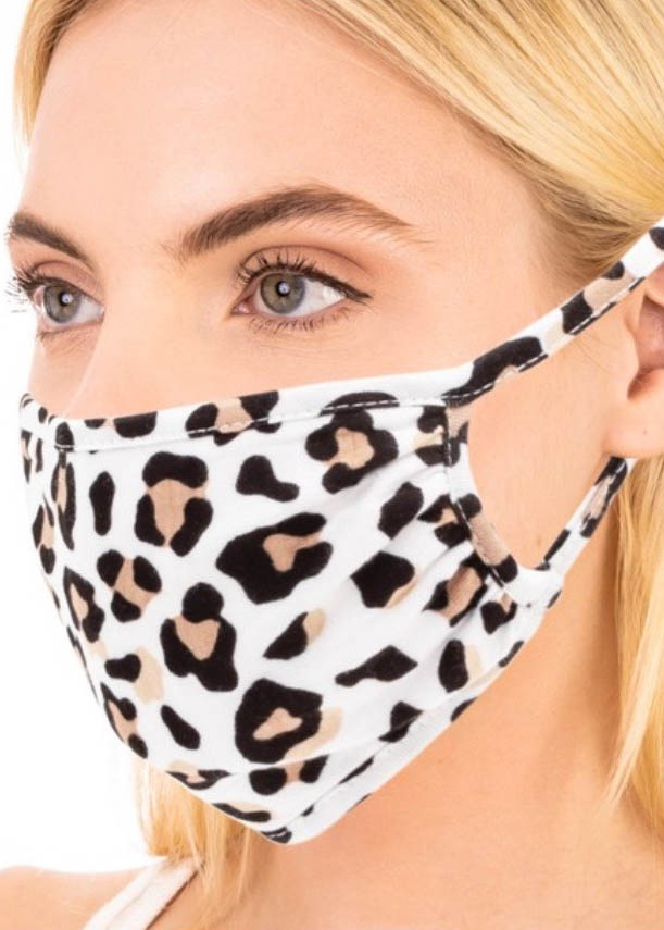 TYRA LEOPARD FACE MASK