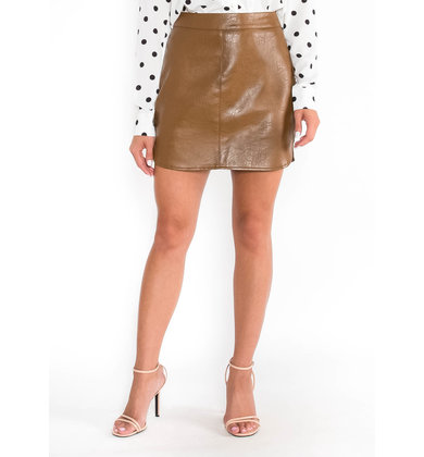 APPROACHING FALL LEATHER SKIRT