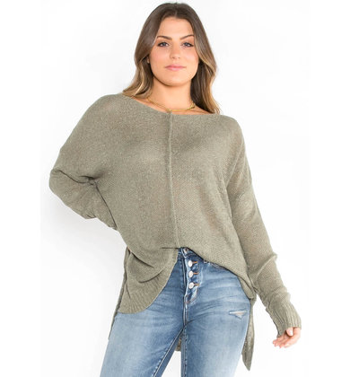 BETTER DAYS SWEATER - OLIVE