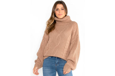 CRISP AIR SWEATER - CAMEL