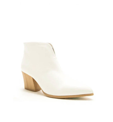 SKYSCRAPER HEELED BOOTIES - WHITE