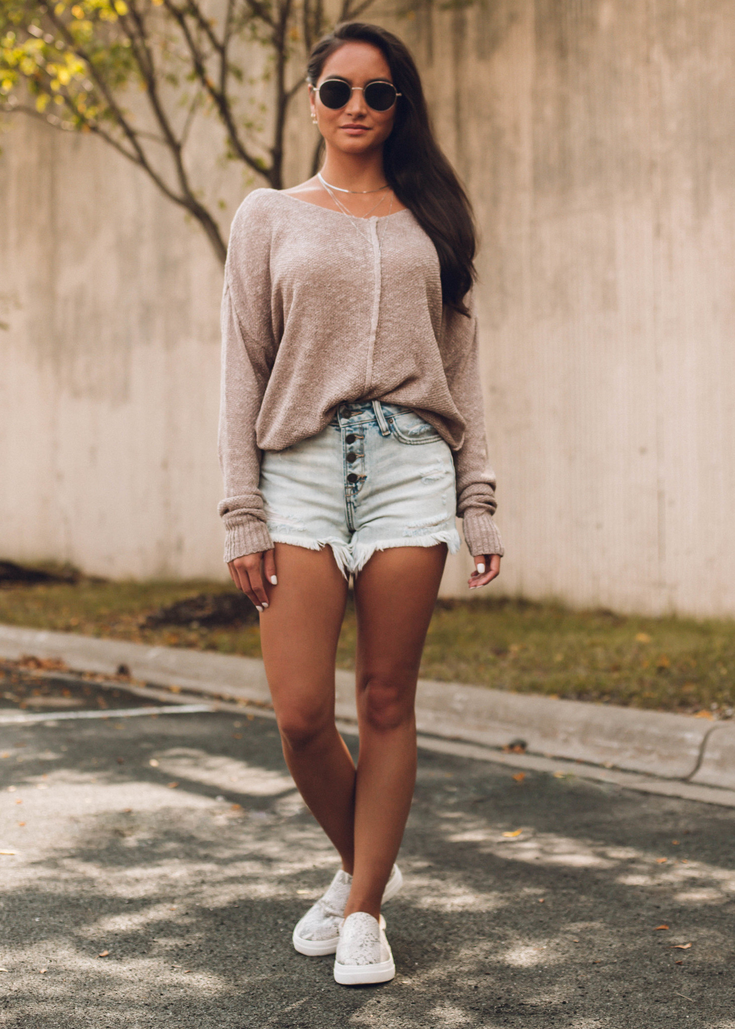 BETTER DAYS SWEATER - TAUPE