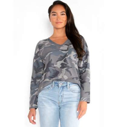 COLORADO CAMO PRINT TOP