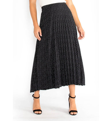 HELLO AGAIN PRINTED MIDI SKIRT