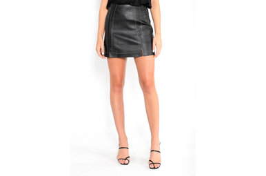 ON MY RADAR LEATHER SKIRT