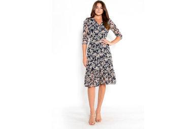 SHEER ROMANCE FLORAL DRESS