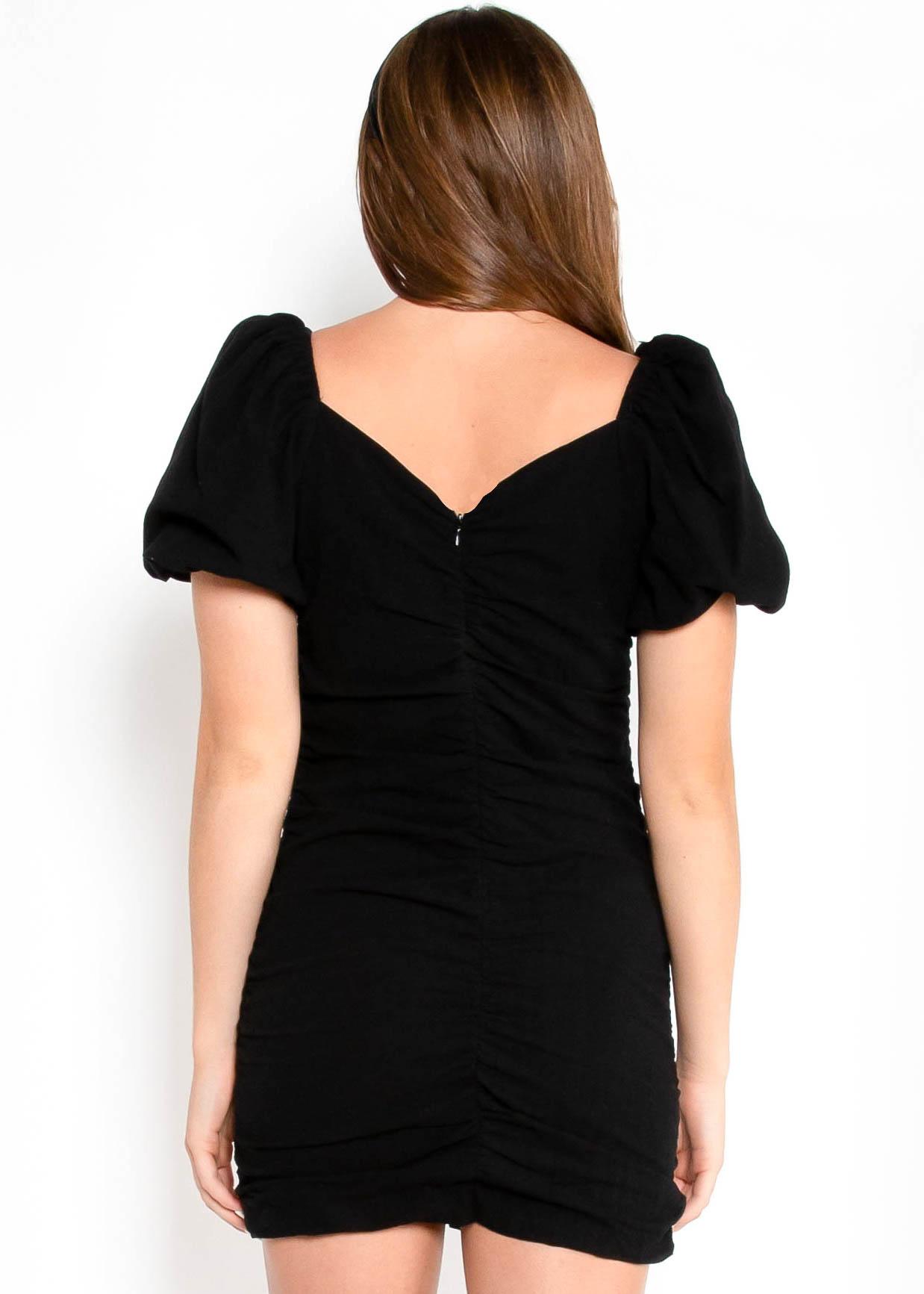 LOVESTRUCK BLACK BODYCON DRESS