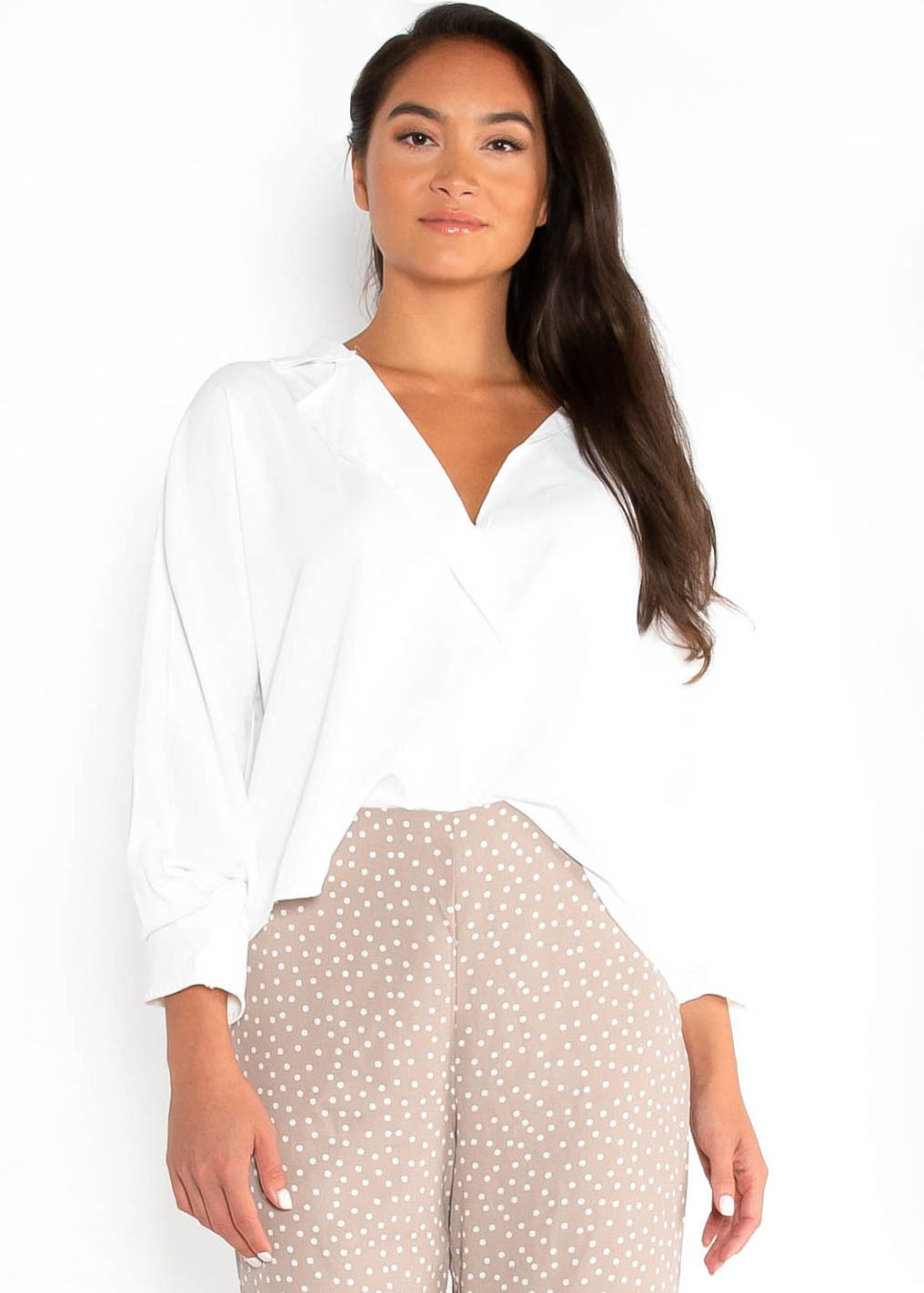 ALWAYS ON TIME BLOUSE - IVORY
