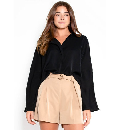 ALWAYS ON TIME BLOUSE - BLACK